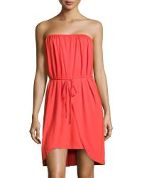 Rachel Pally Strapless Tiefront Crossover Dress - Lyst
