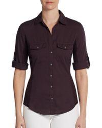 James Perse Paneled Utility Shirt - Lyst
