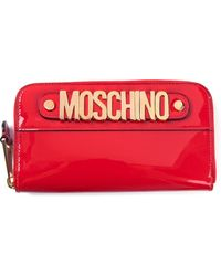 Moschino Zip Around Wallet - Lyst