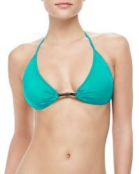 Milly Positano Halter Bikini Top - Lyst