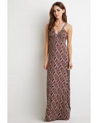 Braided strap maxi dress
