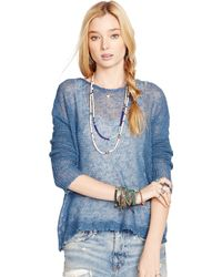 Denim & Supply Ralph Lauren Linen Crewneck Sweater - Lyst