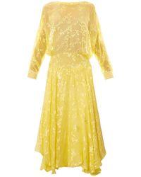 Preen By Thornton Bregazzi Norma Devoré Silkblend Dress - Lyst