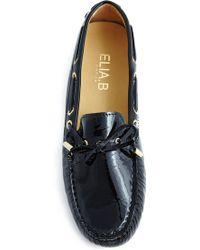 Elia B Patent Black Driving Shoe - Lyst
