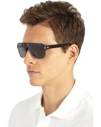 Dior Homme Black Tie Titanium Aviator Sunglasses - Lyst