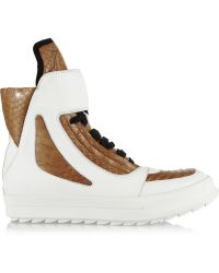 Camilla Skovgaard Matte and Croc-effect Leather Sneakers - Lyst
