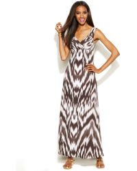 Inc International Concepts Petite Printed Empirewaist Maxi Dress - Lyst