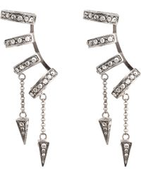 Roberto Cavalli Horn Ear Cuff Earrings - Lyst