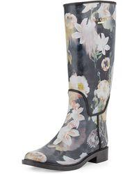 Ted Baker Karriner Opulent Bloom Print Rubber Boot - Lyst