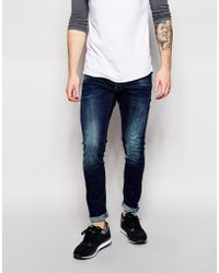 G-Star RAW Jeans Defend Super Slim Fit Stretch Dark Aged - Lyst