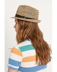 BDG - Open Weave Fedora In Natural - Lyst