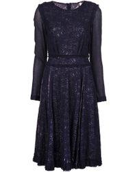 Gregory Parkinson Long Sleeve Lace Dress - Lyst