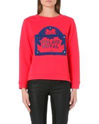 Maje Embroidered Sweatshirt Framboise - Lyst