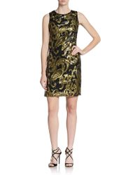 Mark + James by Badgley Mischka Paisley Sequin Pattern Dress - Lyst