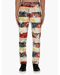 Jonathan Saunders Mens Contrast Floral Printed Trousers - Lyst