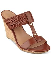 Tommy Hilfiger Women'S Eleona Wedge Sandals - Lyst