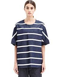 E. Tautz - Frinton Denim Stripe T-Shirt - Lyst