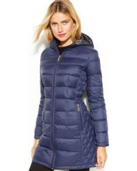 Michael Kors Michael Petite Quilted Down Packable Puffer Coat - Lyst
