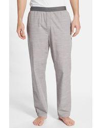Calvin Klein Chambray Lounge Pants gray - Lyst