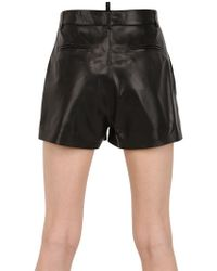 DSquared2 Soft Nappa Leather Shorts - Lyst