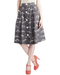 ModCloth Shore To Shore Skirt - Lyst