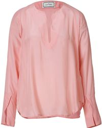 By Malene Birger Silk Blend Blouse - Lyst