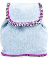Stella McCartney - Fallabella Washed Denim Backpack - Lyst