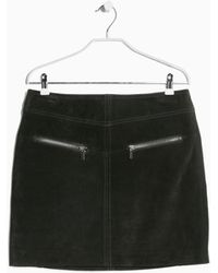 Mango Leather Skirt - Lyst