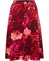 Ellen Tracy - Soft Woven Floral Skirt - Lyst