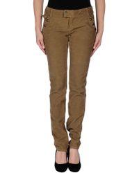 D&G Khaki Casual Pants - Lyst
