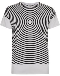 Saint Laurent Swirl Print Tshirt - Lyst