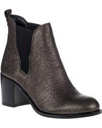 Sam Edelman Justin Ankle Boot Dark Bronze Leather - Lyst