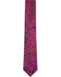 Duchamp Paisley Floral Tie - For Men - Lyst