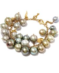 Kojis - Multicolour Tahitian Pearl Charm Bracelet - Lyst