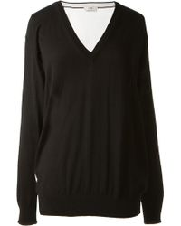 Edun Black and White Cotton Top - Lyst