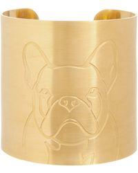 K Kane - 18k Gold-plated French Bulldog Dog Cuff - Lyst