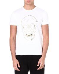 Alexander McQueen Zip Skull T-shirt - Lyst