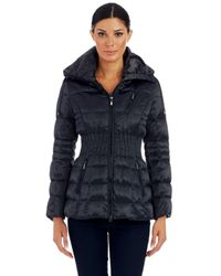 Laundry By Shelli Segal Black Down Jacket - Lyst