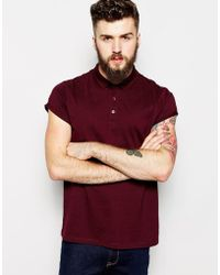 Asos Polo in Jersey with Roll Sleeve - Lyst