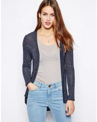 Wal-G - Cardigan with Sheer Back Detail - Lyst