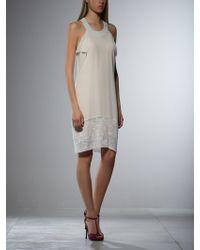 Patrizia Pepe Short Silk Dress - Lyst