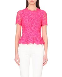Emilio Pucci Lace Peplum Top - For Women - Lyst