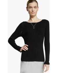 Halston Back Stitch Detail Sweater - Lyst