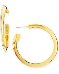 Kenneth Jay Lane 22k Goldplated Polished Large Hoop Earrings - Lyst