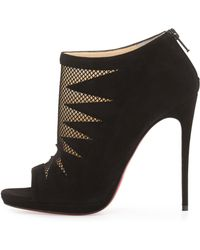 vuitton shoes replica - Christian louboutin Black and Gold Suede Spike Taclou Booty 140 ...
