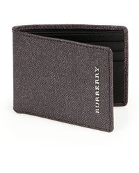 Burberry London Leather Bifold Wallet - Lyst