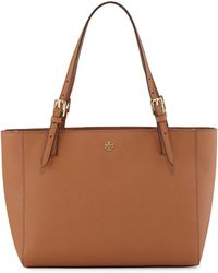 Tory Burch York Small Saffiano Tote Bag Luggage - Lyst