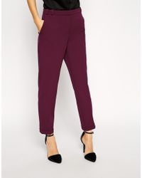 Asos Trousers in Slim Leg with Turnup - Lyst