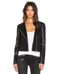 Lamade - Lucia Vegan Leather Zip Jacket - Lyst