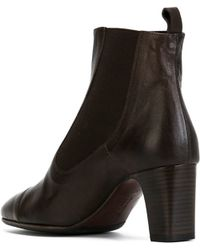 Laboratorigarbo Chunky Heel Leather Boots